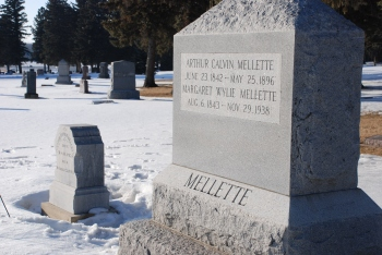 Headstone of Arthur Mellette